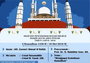 Jadwal Imam kajian Subuh Ramadhan - 2